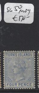 TURKS ISLANDS (P1805BB)  QV   4D  SG 50  MOG  COPY 2