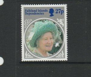 Falkland Deps 1985 Queen Mother 27p Wmk Inverted UM/MNH SG 131W