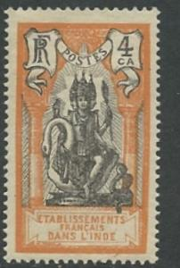 French India # 83 Brahma 1929  4ca   (1)  VLH Unused