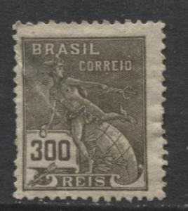 Brazil - Scott 228 - Mercury Issue -1920 - Mint - Single 300r Stamp