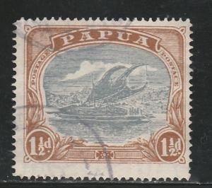 PAPUA 1916 LAKATOI 11/2D POSTACE VARIETY