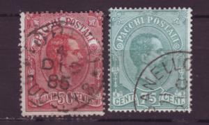 J20425  jlstamps 1884-6 italy used #q3-4 king parcel posts