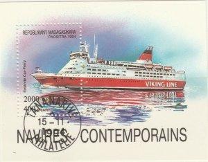 Malagasy Republic 1994 Modern Ships Finnish Car Ferry Sheet Used 11893