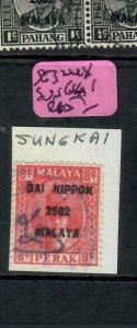 MALAYA JAPANESE OCCUPATION PERAK (P2508B) 8C DN SG J248 SUNGKAI   VFU