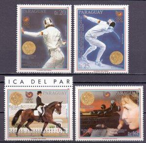 Paraguay. 1989. 4298-02 KLB 4302. Sports Olympics. MNH.