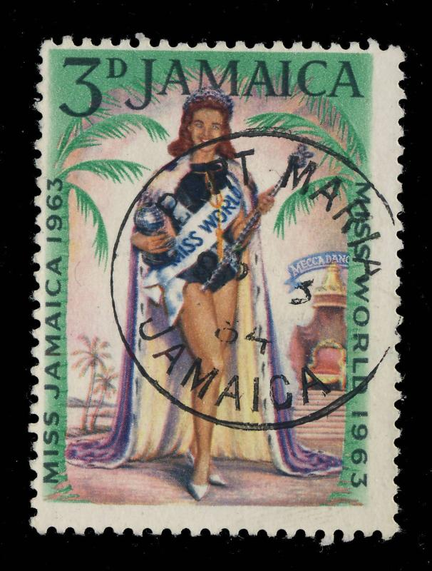 JAMAICA - 1964  PORT MARIA / JAMAICA  SINGLE CIRCLE DATE STAMP ON SG 214