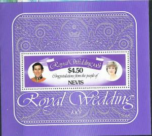 Nevis #141 $4.50 Royal Wedding Souvenir sheet (MNH) CV$2.00