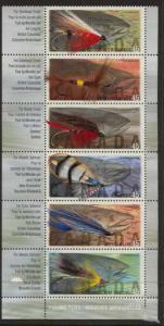Canada - 1998 Fishing Flies Set of 6 VF-NH #1720a