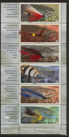 Canada - 1998 Fishing Flies Set of 6 VF-NH #1720a