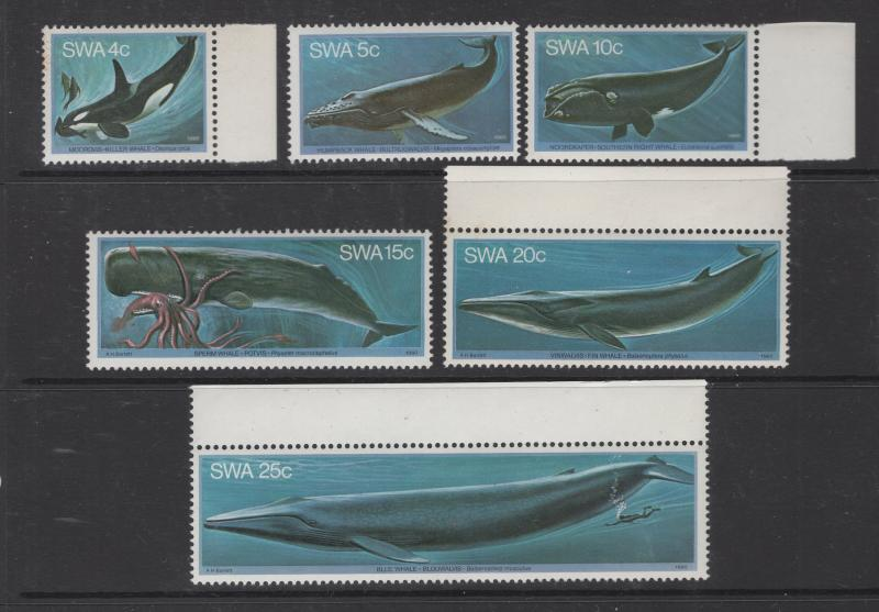 South West Africa 1980 Whales Set Scott 437-442 6 Stamps MNH