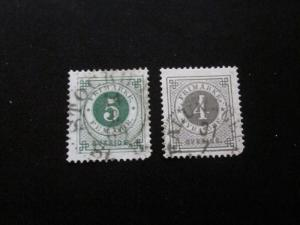Sweden #42-43 Used- (W9) I Combine Shipping