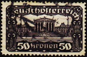 Austria. 1919 50k  S.G.364 Fine Used