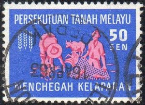 Federation of Malaya 1963 50c Harvester & fisherman (Freedom from Hunger) used