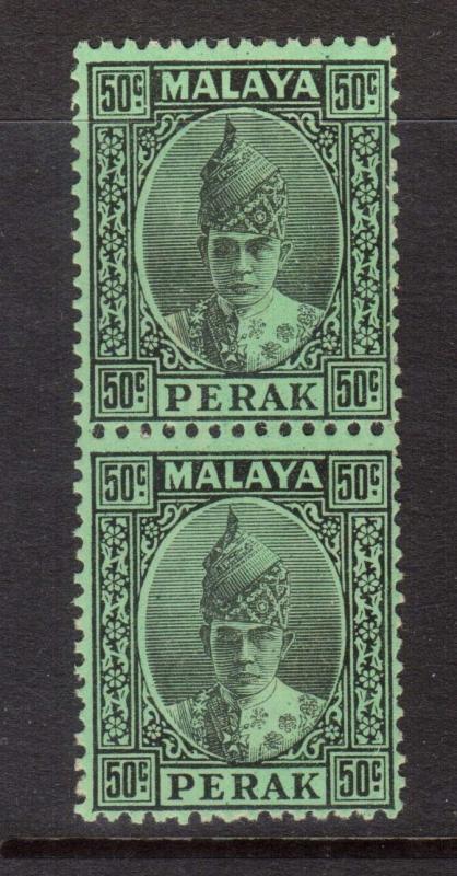 Malaya Perak #95 NH Mint Pair