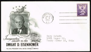 Dwight D. Eisenhower Fleetwood Cachet Inauguration Day Cover