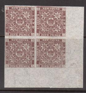 Newfoundland #12 #12ai XF/NH Corner Block Left Pair With Watermark *With Cert.*