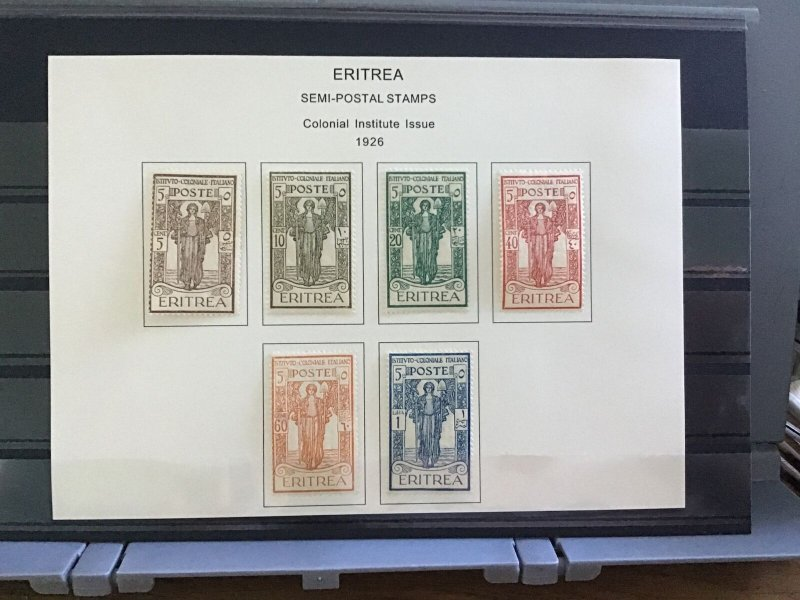 Italian Eritrea 1926 Colonial Institute Issue mounted mint   stamps R30135