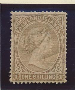 Falkland Islands Stamp Scott #18, Mint Hinged, Creased - Free U.S. Shipping, ...