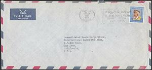 KUWAIT 1971 cover to USA - Combat Racism slogan cancel.....................29019