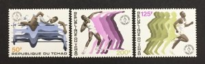 Chad 1973 #289-91, African Games, MNH.