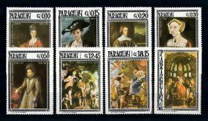 [72407] Paraguay 1966 Paintings Rubens Holbein  MNH
