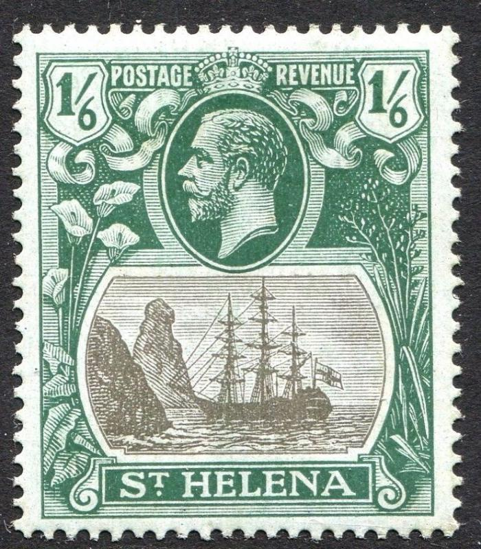 ST HELENA-1922-37 1/6 Grey & Green/Blue-Green Sg 93 LIGHTLY MOUNTED MINT V23466