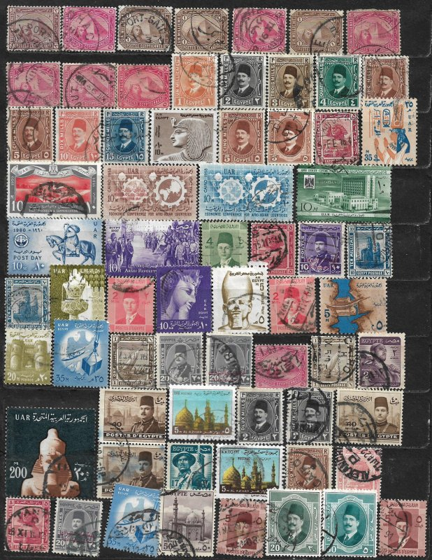 COLLECTION LOT OF 67 EGYPT 1888+ STAMPS CLEARANCE