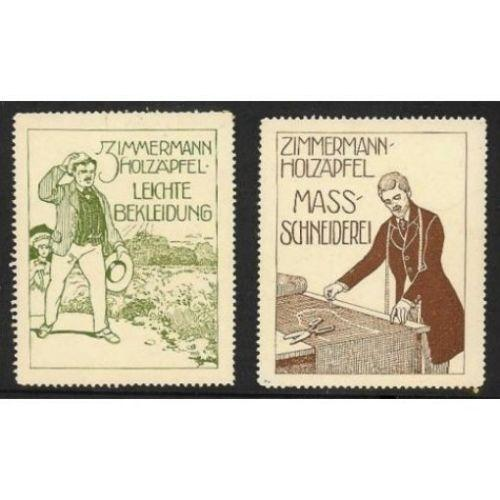 Zimmermann-Holzapfel Clothing Advertising Poster Stamps