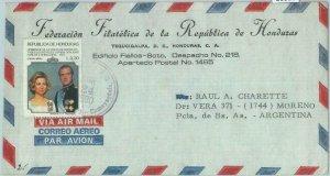 86080 -  HONDURAS -  POSTAL HISTORY -  Airmail COVER to ARGENTINA 1980 - ROYALTY