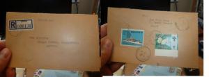 Sarawak Reg cover Spaoh 50c ship 10c Butterfly, Betong B/S (58beh)