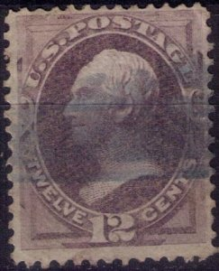 US Sc 151 Used 12c Dull Violet Banknote F-VF