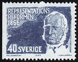 Sweden # 703 mnh ~ 40o Baron Louis Gerhard de Geer