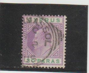 Cyprus  Scott#  39  Used  (1903 King Edward VII)