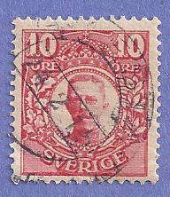 Sweden Scott #80 King Gustaf V, CV $.20, used