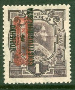 MEXICO 528, 1c CORBATA & $ REVOLUTIONARY OVERPRINTS UNUSED, H OG. F-VF.