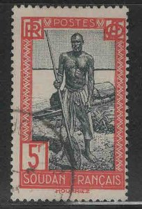 French Sudan Scott 99 Used stamp from 1931-1940 set