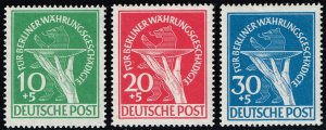 Germany #9NB1-9NB3 Currency Devaluation Set of 3; MNH (4Stars)