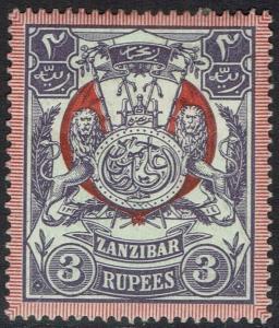 ZANZIBAR 1904 ARMS 3R