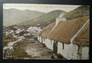 Vintage Irish Cottage Killarney to Sussex England Real Picture Postcard Cover