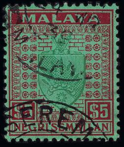 Malaya / Negri Sembilan Scott 21-35 Gibbons 21-39 Used Set of Stamps
