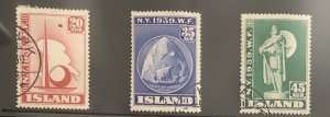 Iceland 1939 : New York World Expo  #213 - 5 , VLH back (see image)