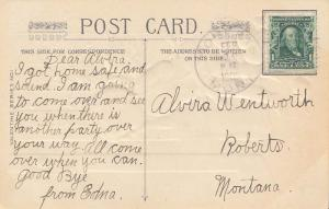 United States Montana Roberts 1908 doane 2/2  PC.