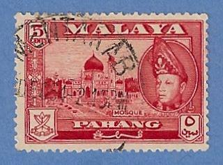 Malaya Pahang 75 Used H Pencil Mark - Mosque, Abu Bakar