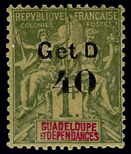 Guadeloupe Sc #48 Mint F-VF...French colonies are in demand!