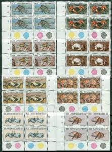 EDW1949SELL : CHRISTMAS ISLAND 1985 Sc #162-73 Shellfish Blks of 4 VFMNH Cat $97