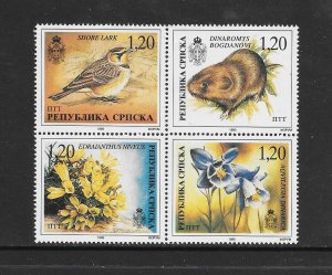 BIRDS - BOSNIA (SERB) #40  NATURE   MNH