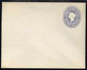 Leeward Islands QV 1.5d grey p/stat envelope unused and v...