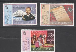 British Antarctic Territory 1977 Scott # 68 - 70 MNH