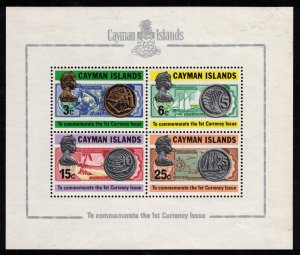 CAYMAN ISLANDS - First Currency Issue - Mini Sheet 1973 MS323