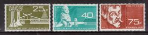 French Polynesia #C34 - #C36 VF Mint Set